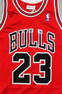 MITCHELL&NESS AUTHENTIC JERSEY BULLS 1987-88 JORDAN【RED/BLK】