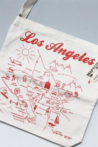 <img class='new_mark_img1' src='https://img.shop-pro.jp/img/new/icons16.gif' style='border:none;display:inline;margin:0px;padding:0px;width:auto;' />MAPTOTE LOS ANGELES TOTE BAG【NAT/RED】
