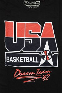 MITCHELL&NESS TEAM USA S/S TEE【BLK/RED】