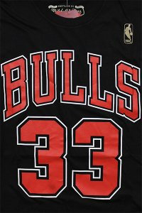 MITCHELL&NESS BULLS PIPPEN S/S TEE【BLK/RED】