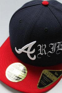 CANT CLOTHING CUSTOM NEWERA 59fifty LOW BRAVES【NVY/RED】