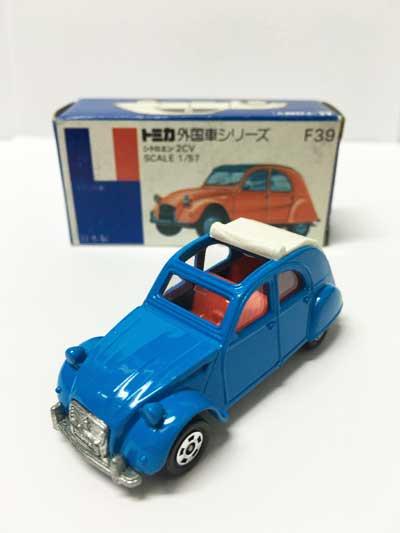 トミカ F39 シトロエン 2CV 青箱