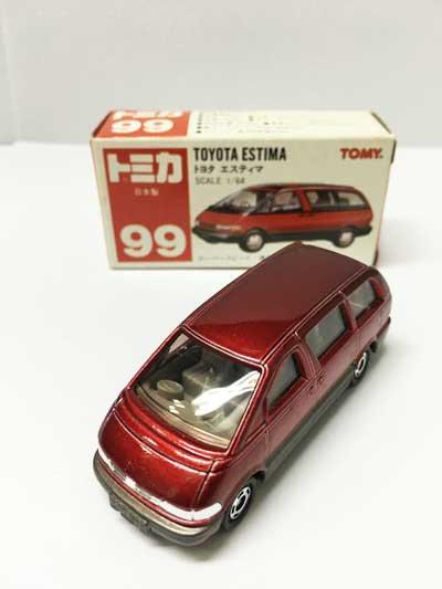 トミカ NO.99 トヨタ エスティマ 赤箱(日本製)