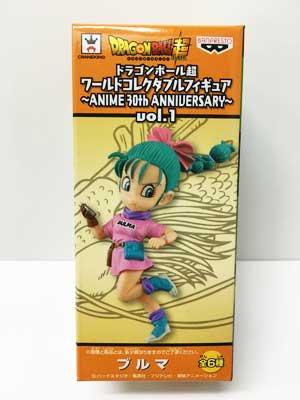 ドラゴンボール超 ワールドコレクタブルフィギュア ANIME 30th ANNIVERSARY vol.1 ブルマ dw00065
