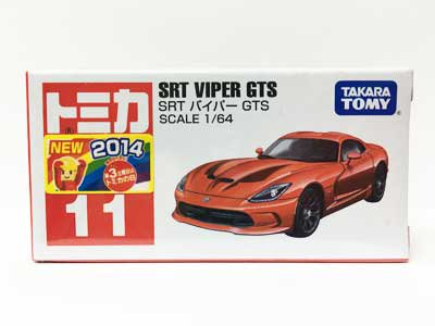 トミカ 11 SRT バイパー GTS(新車シール付き) TMC00654
