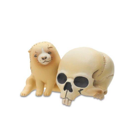 キタンクラブ ART IN THE POCKETシリーズ 長沢芦雪の子犬 髑髏と子犬(「髑髏子犬」より) TC00636