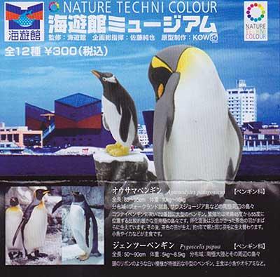 海遊館限定 NATURE TECHNI COLOUR 海遊館ミュージアム オウサマペンギン&ジェンツーペンギン TC0094