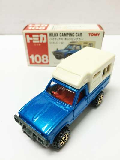 トミカ NO.108 ハイラックス キャンピングカー 赤箱(日本製)
