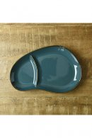 美濃焼 BLUE ROUND LUNCH PLATE
