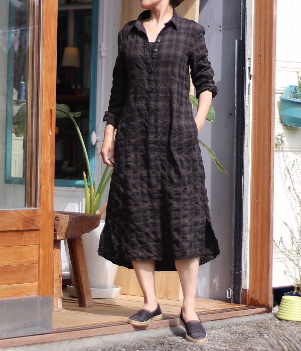 【 Fab Garden 】 RELAX SHIRT ONE PIECE DRESS