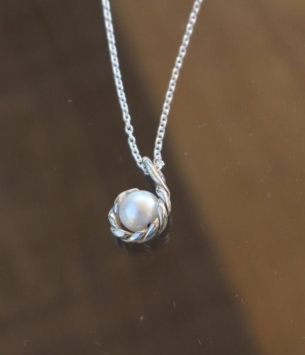【MARUCO】 SILVER WAVE PEARL NECKLACE