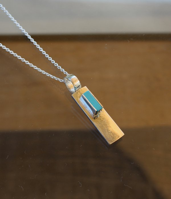 【MARUCO】 SILVER TURQUOISE NECKLACE・Small