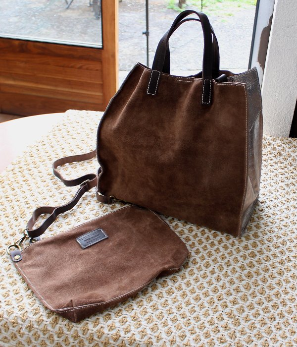 【MARLON】 LEATHER TOTE BAG & SHOULDER BAG  SET