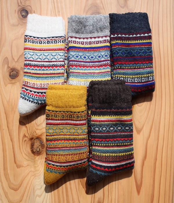 H FOOTWEAR WOOL FAIR ISLE