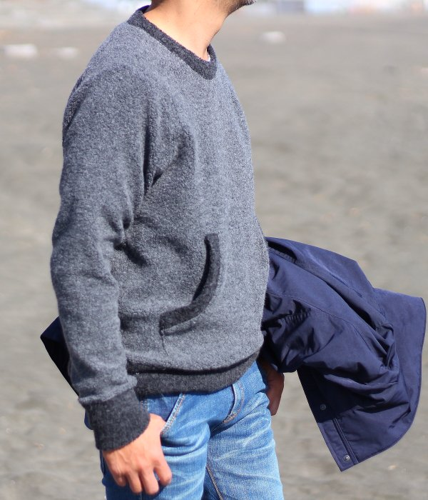 SHEEP PILE POCKET PULL OVER