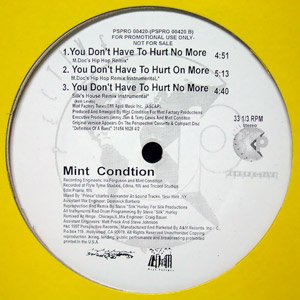 Mint Condition You Don't Have To Hurt No More - Change Your Mind