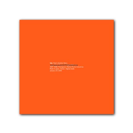toe『That's Another Story』CD