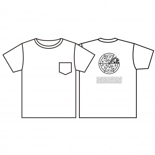 <img class='new_mark_img1' src='https://img.shop-pro.jp/img/new/icons61.gif' style='border:none;display:inline;margin:0px;padding:0px;width:auto;' />ircle_Back Print PIZZA Pocket Tシャツ