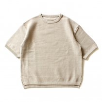 crepuscule / MESH S/S クルーネックプルオーバー - Beige(ベージュ)1601-006<img class='new_mark_img2' src='//img.shop-pro.jp/img/new/icons47.gif' style='border:none;display:inline;margin:0px;padding:0px;width:auto;' />