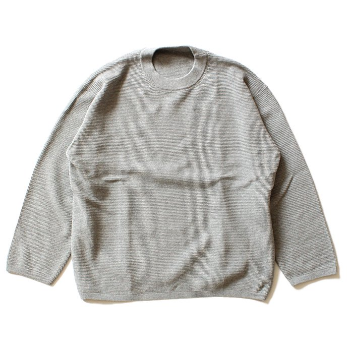 100491957 crepuscule / THERMAL P/O サーマル クルーネックプルオーバー 1601-003 - Gray(グレー)<img class='new_mark_img2' src='//img.shop-pro.jp/img/new/icons47.gif' style='border:none;display:inline;margin:0px;padding:0px;width:auto;' /> 01