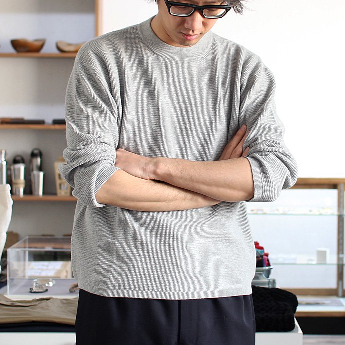 100491957 crepuscule / THERMAL P/O サーマル クルーネックプルオーバー 1601-003 - Gray(グレー)<img class='new_mark_img2' src='//img.shop-pro.jp/img/new/icons47.gif' style='border:none;display:inline;margin:0px;padding:0px;width:auto;' /> 02