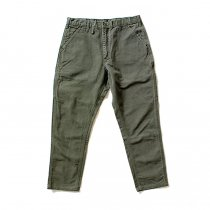 Hexico Deformer Pants - Left to Right 2-Tone Quarter Tapered Ex. U.S. Made Carhartt リメイクパンツ - Olive<img class='new_mark_img2' src='//img.shop-pro.jp/img/new/icons47.gif' style='border:none;display:inline;margin:0px;padding:0px;width:auto;' />