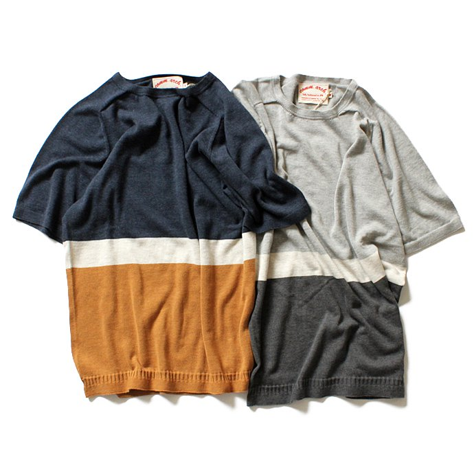 comm. arch. comm. arch. / ホールガーメント ストライプニットTシャツ Whole Garment Knitted Tee - 全2色<img class='new_mark_img2' src='//img.shop-pro.jp/img/new/icons47.gif' style='border:none;display:inline;margin:0px;padding:0px;width:auto;' /> 01