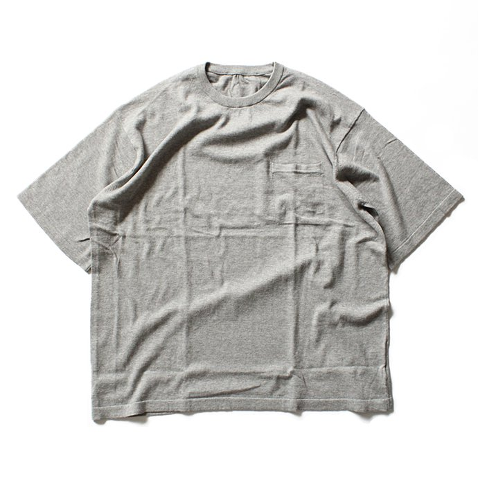 crepuscule crepuscule / Knit T-Shirt ニットTシャツ 1601-010 - Gray(グレー)<img class='new_mark_img2' src='//img.shop-pro.jp/img/new/icons48.gif' style='border:none;display:inline;margin:0px;padding:0px;width:auto;' /> 01
