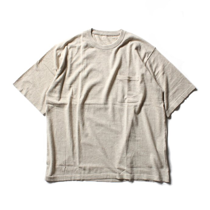 crepuscule crepuscule / Knit T-Shirt ニットTシャツ 1601-010 - Beige(ベージュ)<img class='new_mark_img2' src='//img.shop-pro.jp/img/new/icons47.gif' style='border:none;display:inline;margin:0px;padding:0px;width:auto;' /> 01