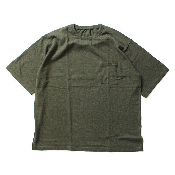 101629600 crepuscule / Knit T-Shirt ニットTシャツ 1601-010 - Khaki(オリーブ)<img class='new_mark_img2' src='//img.shop-pro.jp/img/new/icons47.gif' style='border:none;display:inline;margin:0px;padding:0px;width:auto;' /> 01