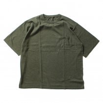 crepuscule crepuscule / Knit T-Shirt ニットTシャツ 1601-010 - Khaki(オリーブ)<img class='new_mark_img2' src='//img.shop-pro.jp/img/new/icons47.gif' style='border:none;display:inline;margin:0px;padding:0px;width:auto;' />