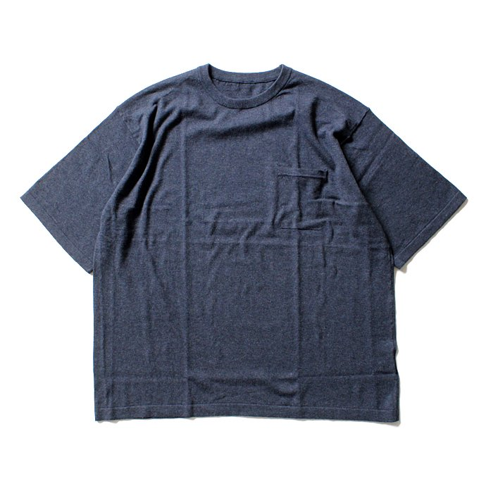 crepuscule crepuscule / Knit T-Shirt ニットTシャツ 1601-010 - Navy(ネイビー)<img class='new_mark_img2' src='//img.shop-pro.jp/img/new/icons47.gif' style='border:none;display:inline;margin:0px;padding:0px;width:auto;' /> 01