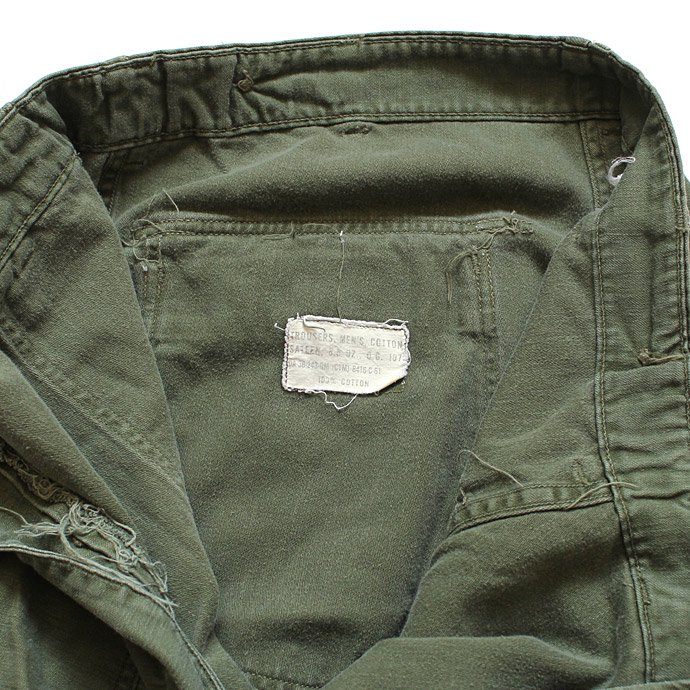 happening U.S. ARMY / 60s Utility Pants ユーティリティーパンツ タブ付き L<img class='new_mark_img2' src='//img.shop-pro.jp/img/new/icons47.gif' style='border:none;display:inline;margin:0px;padding:0px;width:auto;' /> 02