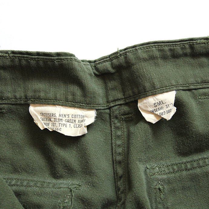 102454525 U.S. ARMY / 60s Utility Pants ユーティリティーパンツ タブ付き S<img class='new_mark_img2' src='//img.shop-pro.jp/img/new/icons47.gif' style='border:none;display:inline;margin:0px;padding:0px;width:auto;' /> 02