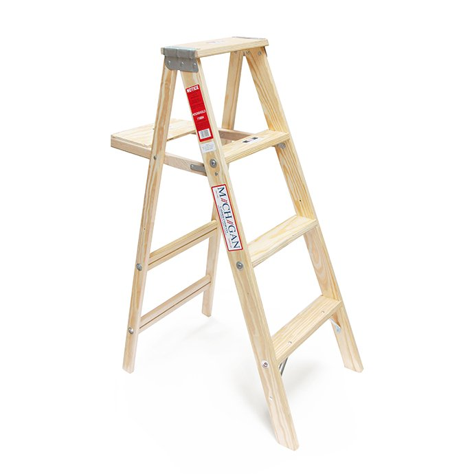 102560133 Michigan Ladder Company / Wood Step Ladder ウッドステップラダー - Size 4 01