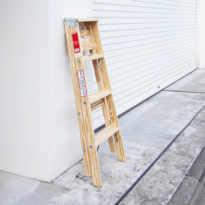 102560133 Michigan Ladder Company / Wood Step Ladder ウッドステップラダー - Size 4 02