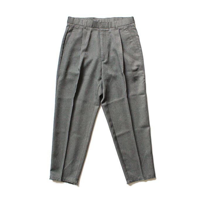 Hexico Deformer 1-Tuck Cut Off Pants - Ex. Action Slacks リメイクスラックス - Grey<img class='new_mark_img2' src='//img.shop-pro.jp/img/new/icons47.gif' style='border:none;display:inline;margin:0px;padding:0px;width:auto;' /> 01