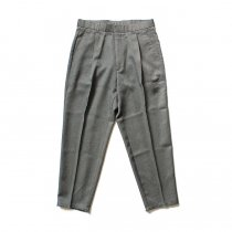 Hexico Deformer 1-Tuck Cut Off Pants - Ex. Action Slacks リメイクスラックス - Grey