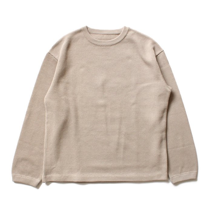 105781946 crepuscule / moss stitch P/O 鹿の子編みクルーネックプルオーバー 1603-001 - Beige<img class='new_mark_img2' src='//img.shop-pro.jp/img/new/icons47.gif' style='border:none;display:inline;margin:0px;padding:0px;width:auto;' /> 01