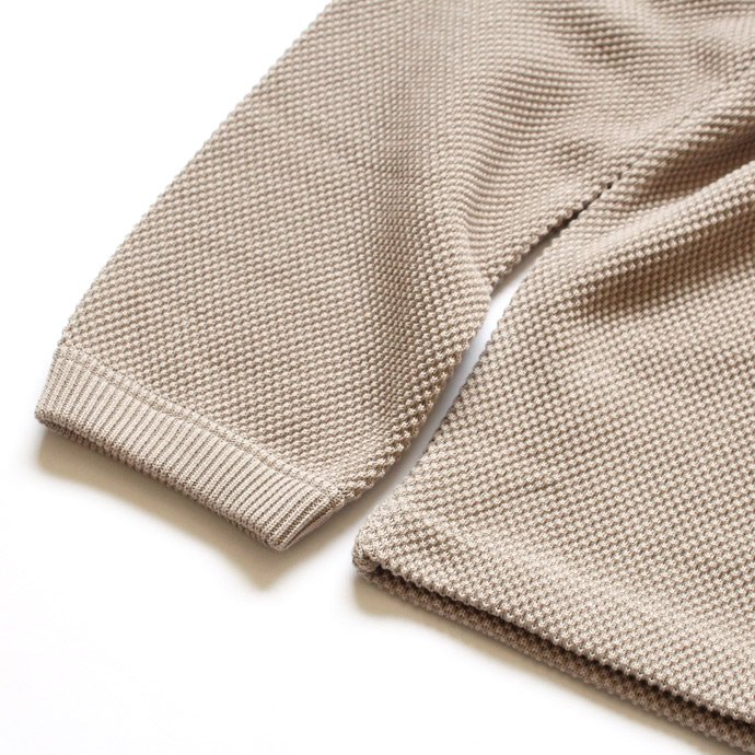 105781946 crepuscule / moss stitch P/O 鹿の子編みクルーネックプルオーバー 1603-001 - Beige<img class='new_mark_img2' src='//img.shop-pro.jp/img/new/icons47.gif' style='border:none;display:inline;margin:0px;padding:0px;width:auto;' /> 02