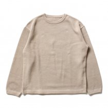 crepuscule / moss stitch P/O 鹿の子編みクルーネックプルオーバー 1603-001 - Beige<img class='new_mark_img2' src='//img.shop-pro.jp/img/new/icons47.gif' style='border:none;display:inline;margin:0px;padding:0px;width:auto;' />