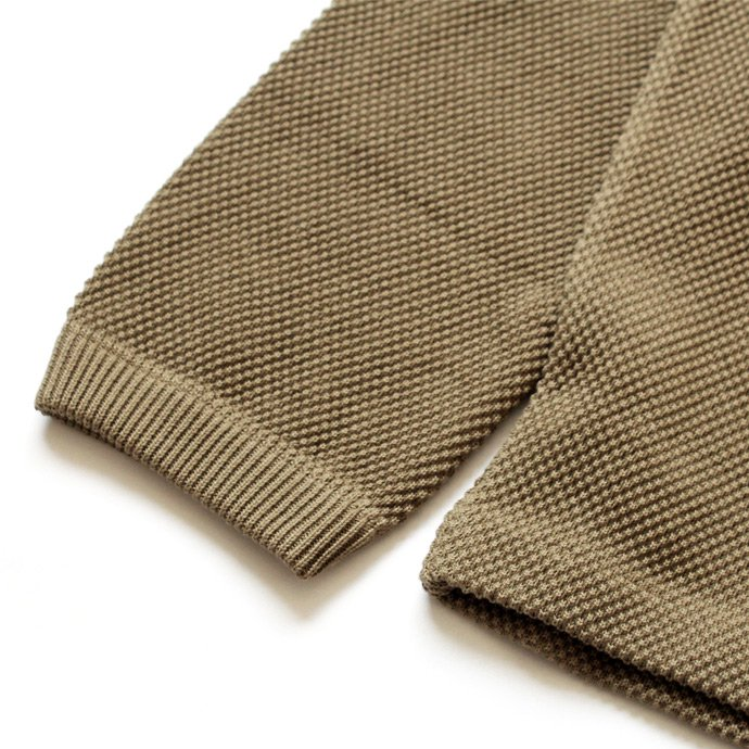 crepuscule crepuscule / moss stitch P/O 鹿の子編みクルーネックプルオーバー 1603-001 - Khaki<img class='new_mark_img2' src='//img.shop-pro.jp/img/new/icons47.gif' style='border:none;display:inline;margin:0px;padding:0px;width:auto;' /> 02