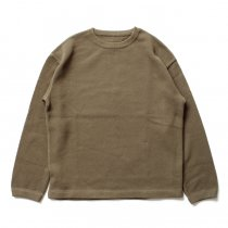 crepuscule / moss stitch P/O 鹿の子編みクルーネックプルオーバー 1603-001 - Khaki<img class='new_mark_img2' src='//img.shop-pro.jp/img/new/icons47.gif' style='border:none;display:inline;margin:0px;padding:0px;width:auto;' />