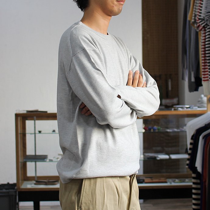 crepuscule crepuscule / wool crewneck L/S ハイゲージウールクルーネックプルオーバー 1603-004 - L.Gray<img class='new_mark_img2' src='//img.shop-pro.jp/img/new/icons47.gif' style='border:none;display:inline;margin:0px;padding:0px;width:auto;' /> 01