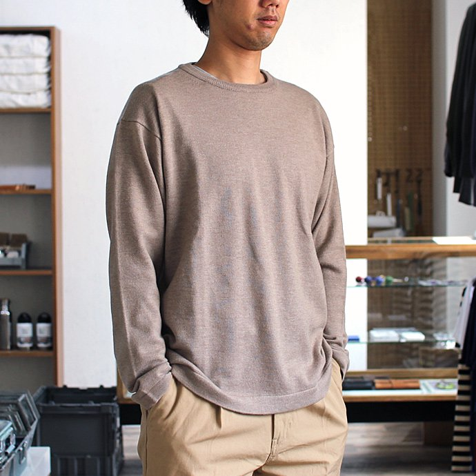 crepuscule crepuscule / wool crewneck L/S ハイゲージウールクルーネックプルオーバー 1603-004 - Camel<img class='new_mark_img2' src='//img.shop-pro.jp/img/new/icons47.gif' style='border:none;display:inline;margin:0px;padding:0px;width:auto;' /> 01