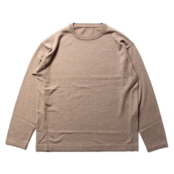 crepuscule crepuscule / wool crewneck L/S ハイゲージウールクルーネックプルオーバー 1603-004 - Camel<img class='new_mark_img2' src='//img.shop-pro.jp/img/new/icons47.gif' style='border:none;display:inline;margin:0px;padding:0px;width:auto;' /> 02