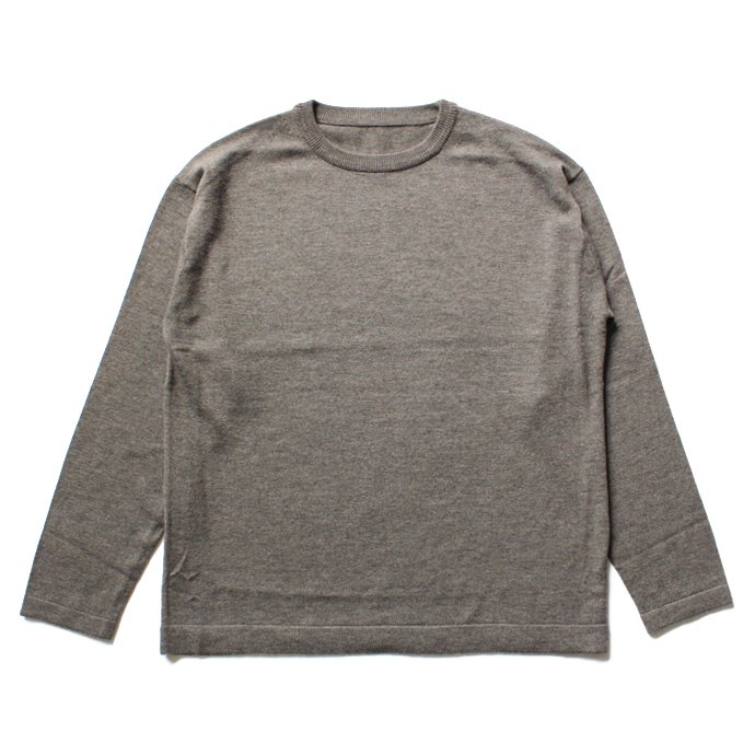 106378629 crepuscule / wool crewneck L/S ハイゲージウールクルーネックプルオーバー 1603-004 - Brown<img class='new_mark_img2' src='//img.shop-pro.jp/img/new/icons47.gif' style='border:none;display:inline;margin:0px;padding:0px;width:auto;' /> 01