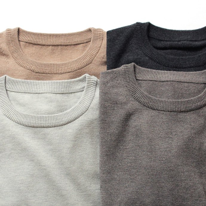 106378629 crepuscule / wool crewneck L/S ハイゲージウールクルーネックプルオーバー 1603-004 - Brown<img class='new_mark_img2' src='//img.shop-pro.jp/img/new/icons47.gif' style='border:none;display:inline;margin:0px;padding:0px;width:auto;' /> 02