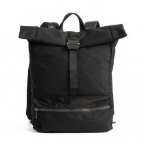 DEFY BAGS Theodore Rolltop Backpack - Black Cordura ロールトップバックパック コーデュラナイロン