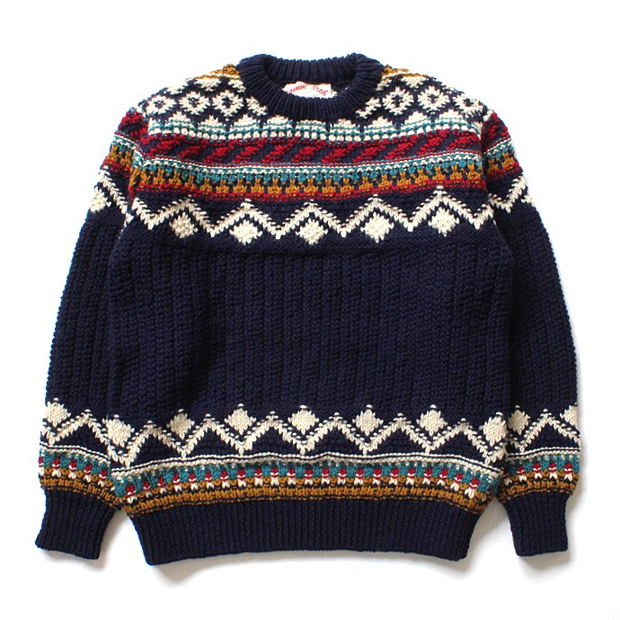 comm. arch. Hand Knitted P/O - Shetland ハンドニットローゲージセーター ネイビー<img class='new_mark_img2' src='//img.shop-pro.jp/img/new/icons20.gif' style='border:none;display:inline;margin:0px;padding:0px;width:auto;' /> 01